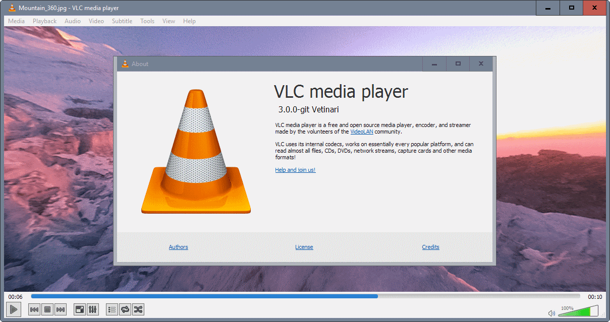VLC 360: play 360 videos and photos