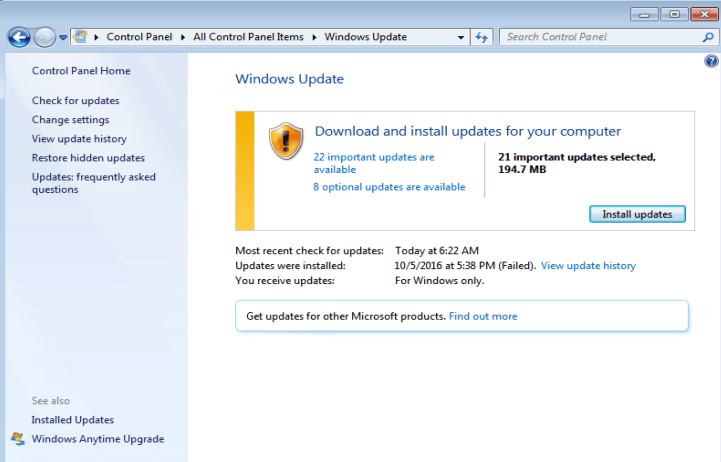 windows 7 slow checking for updates fix