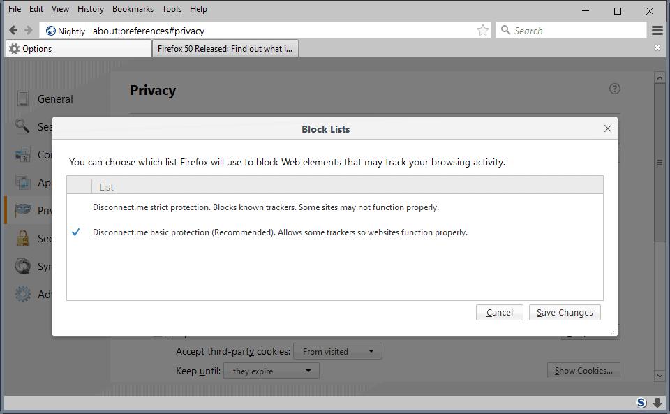 firefox reset preferences