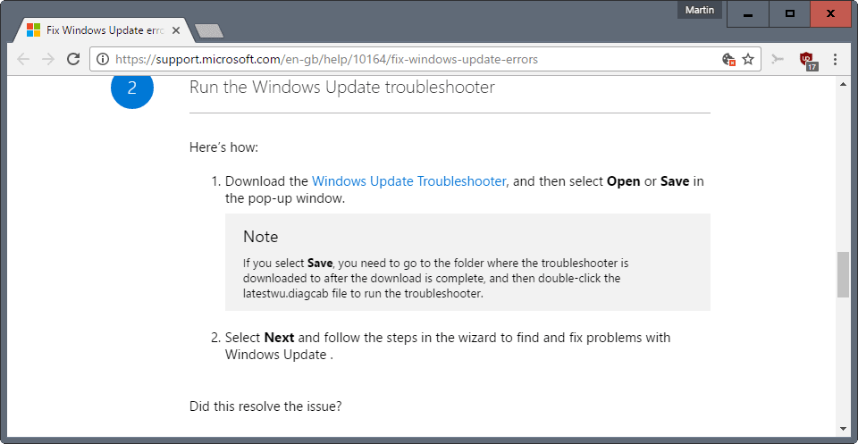 fix windows update errors