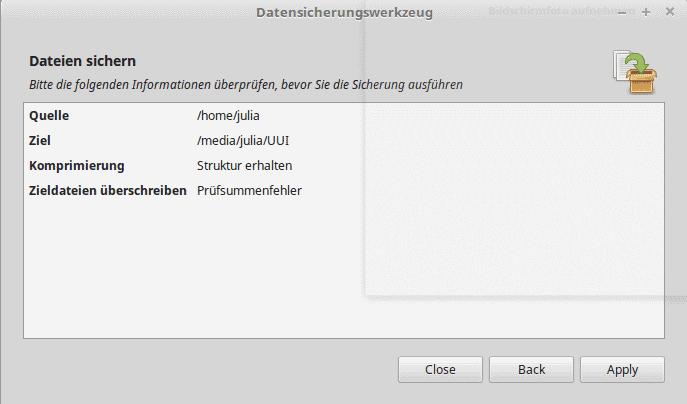 linux mint backup