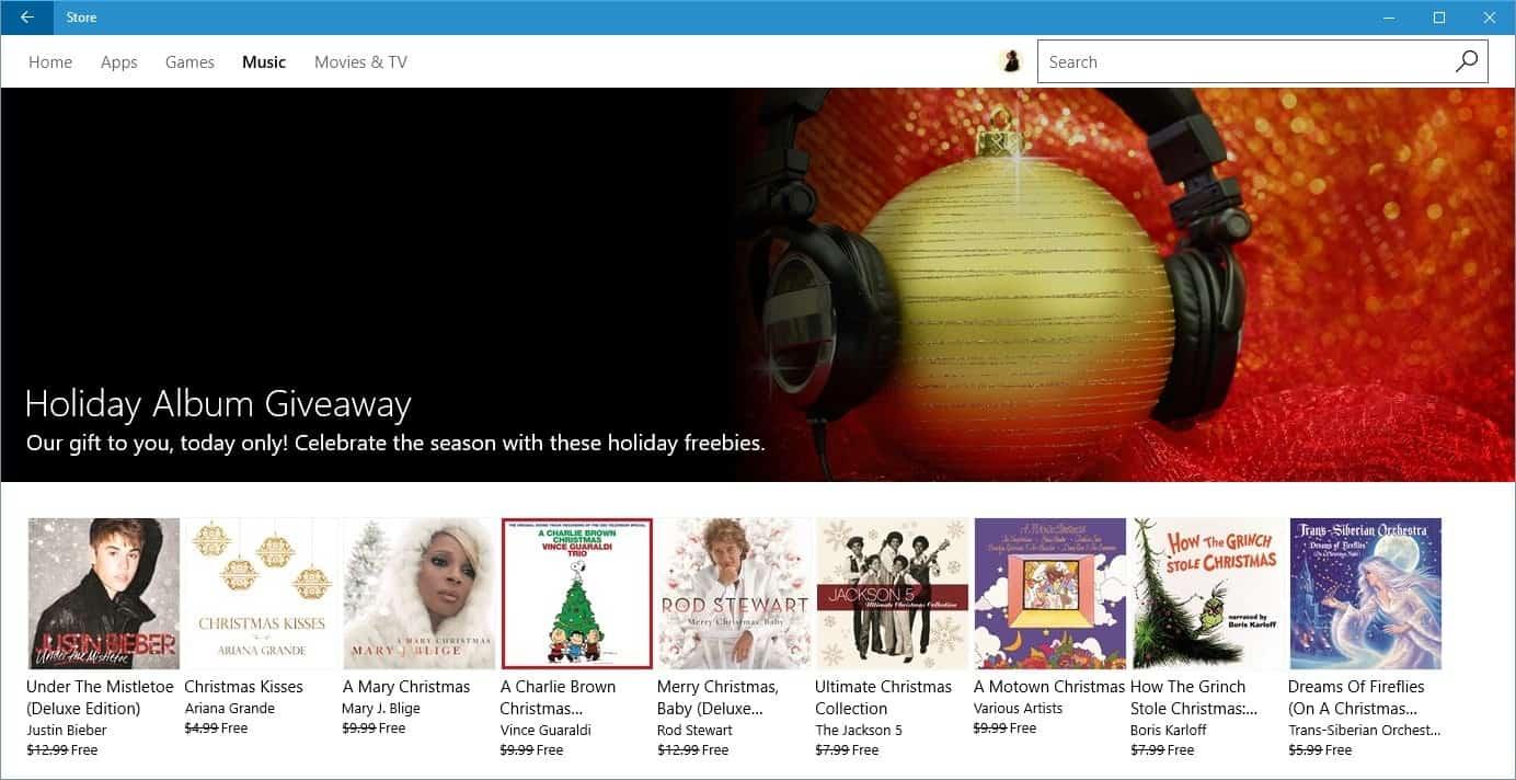 microsoft holiday album giveaway