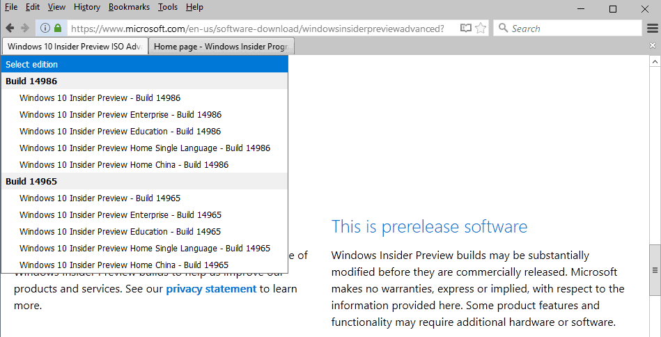 windows 10 insider preview build 14986 iso