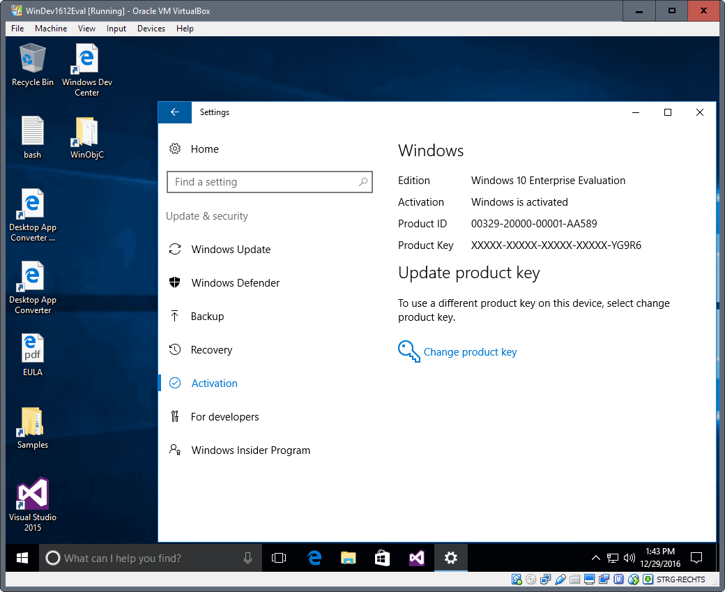 windows 10 virtual machines