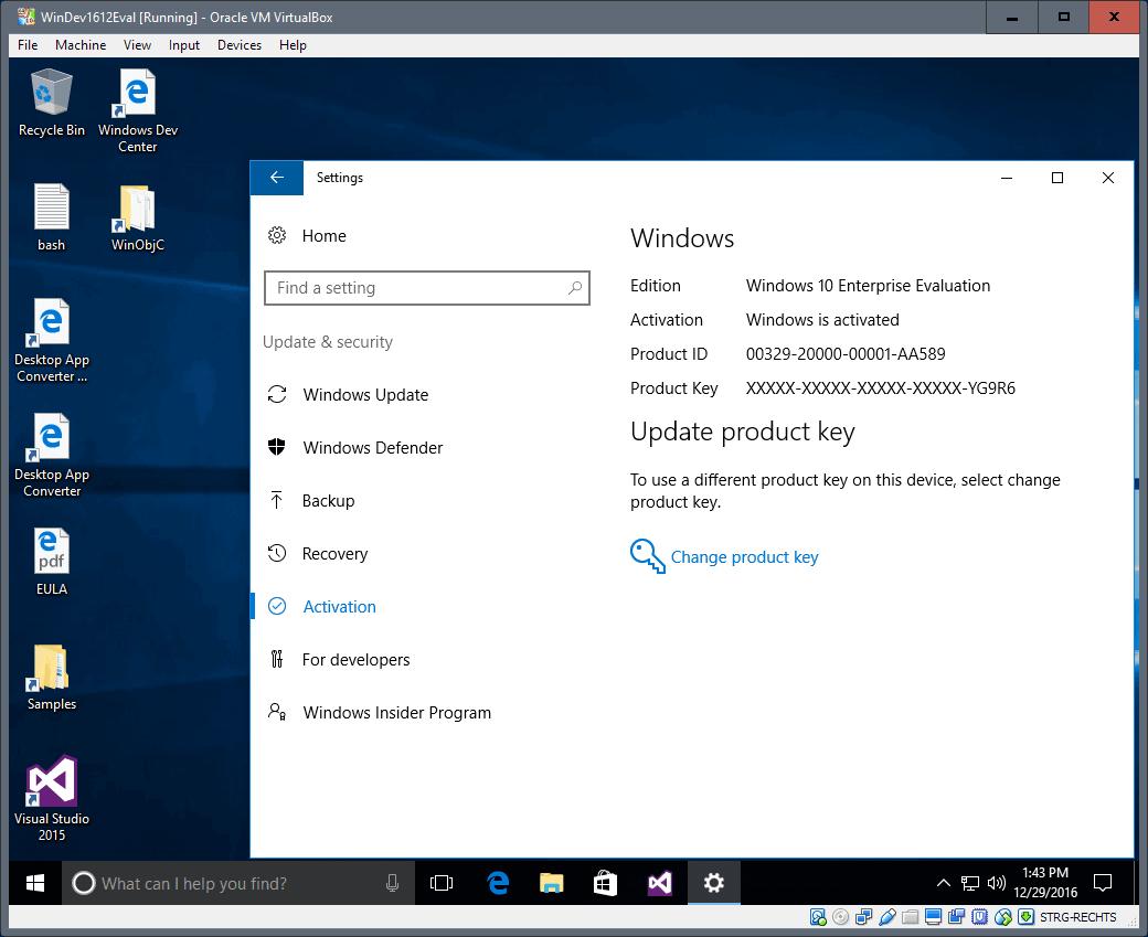 windows 10 virtual machines