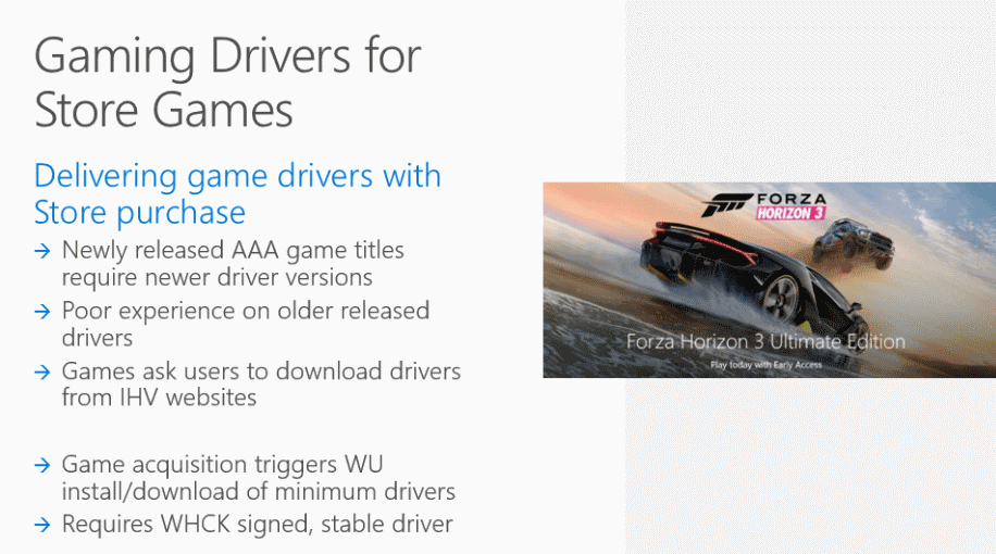 Windows 10 Creators Update: Store games with drivers