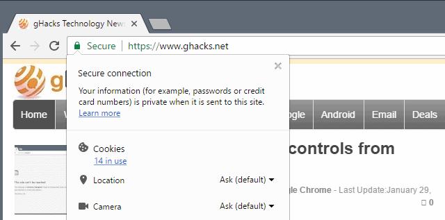 chrome certificate details missing