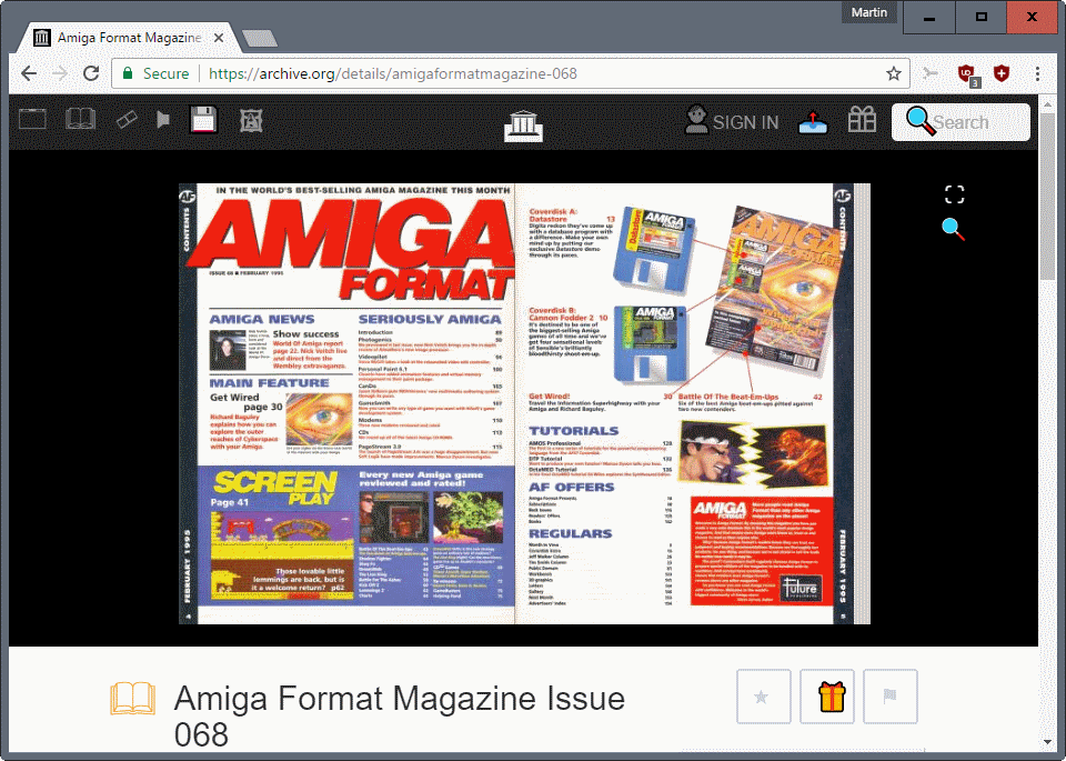 Read classic computer and game magazines on the Internet Archive