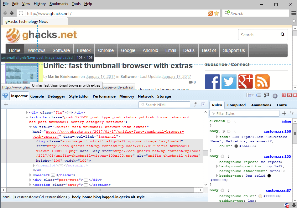 firefox developer tools system addon