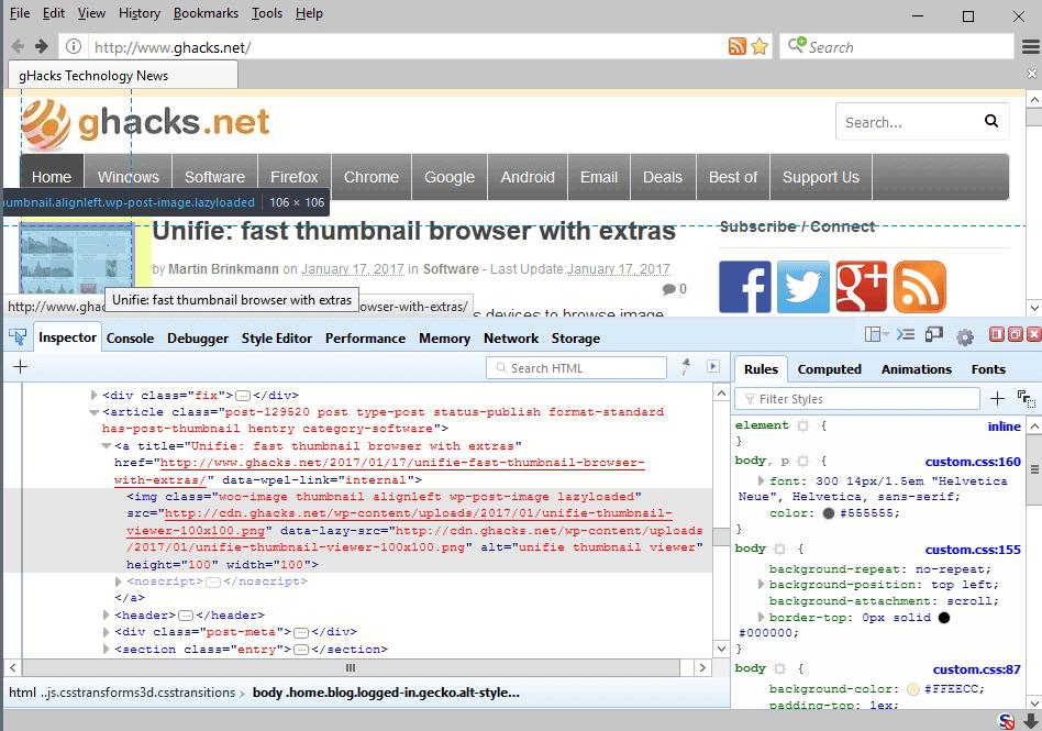 firefox developer tools system addon