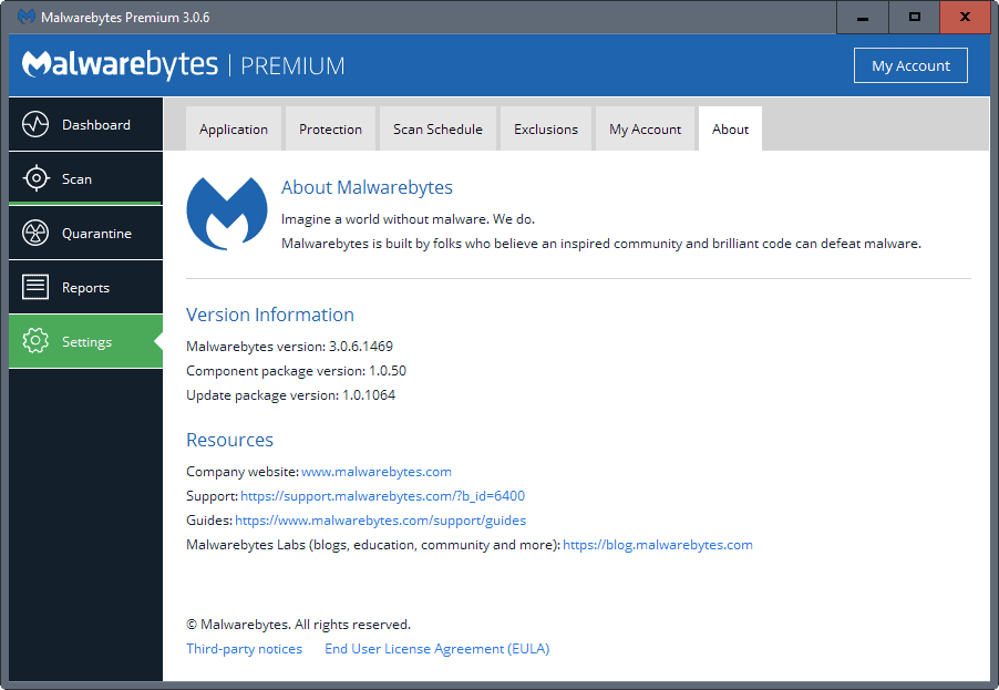 Malwarebytes 3.0.6 with stability and performance improvements