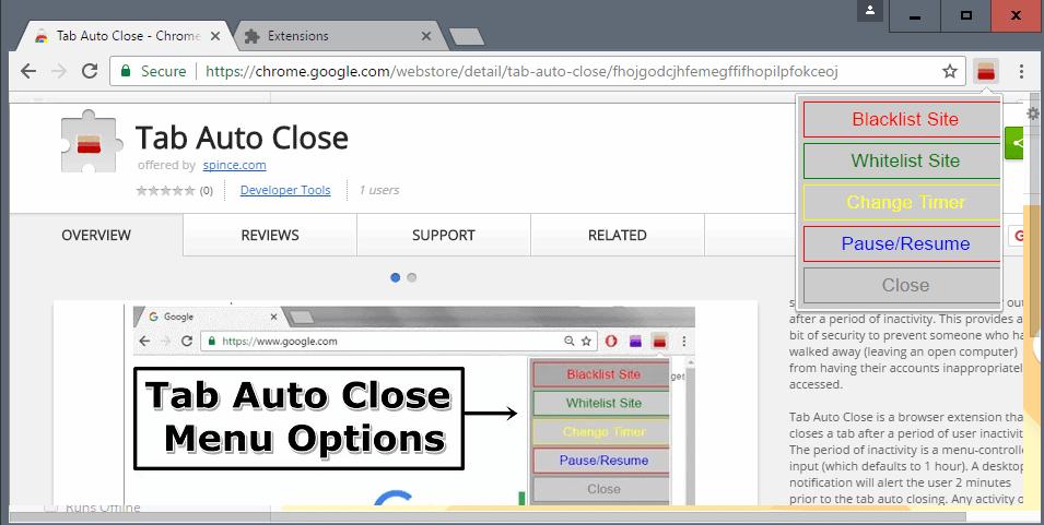 tab auto close