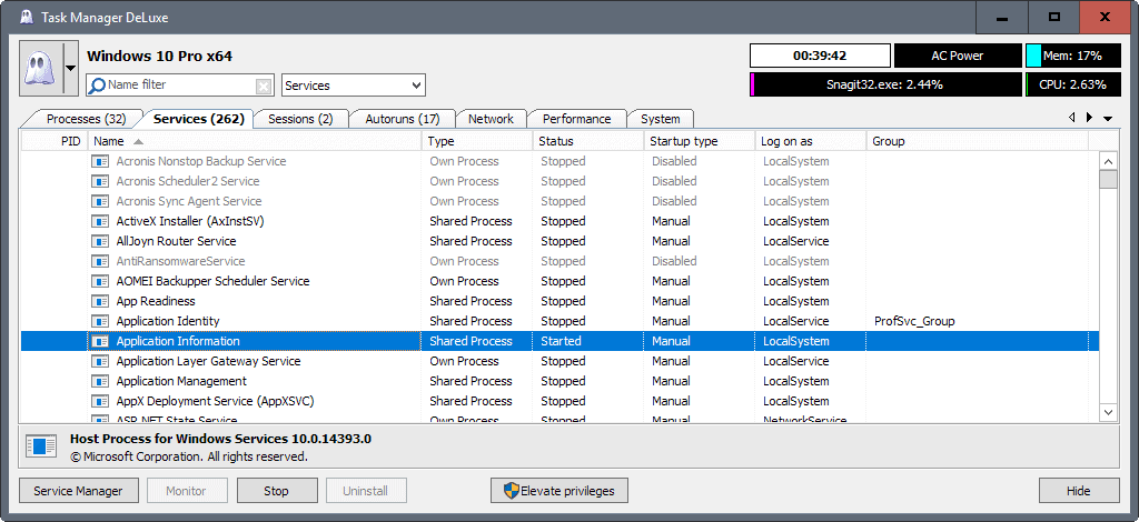 task manager deluxe services