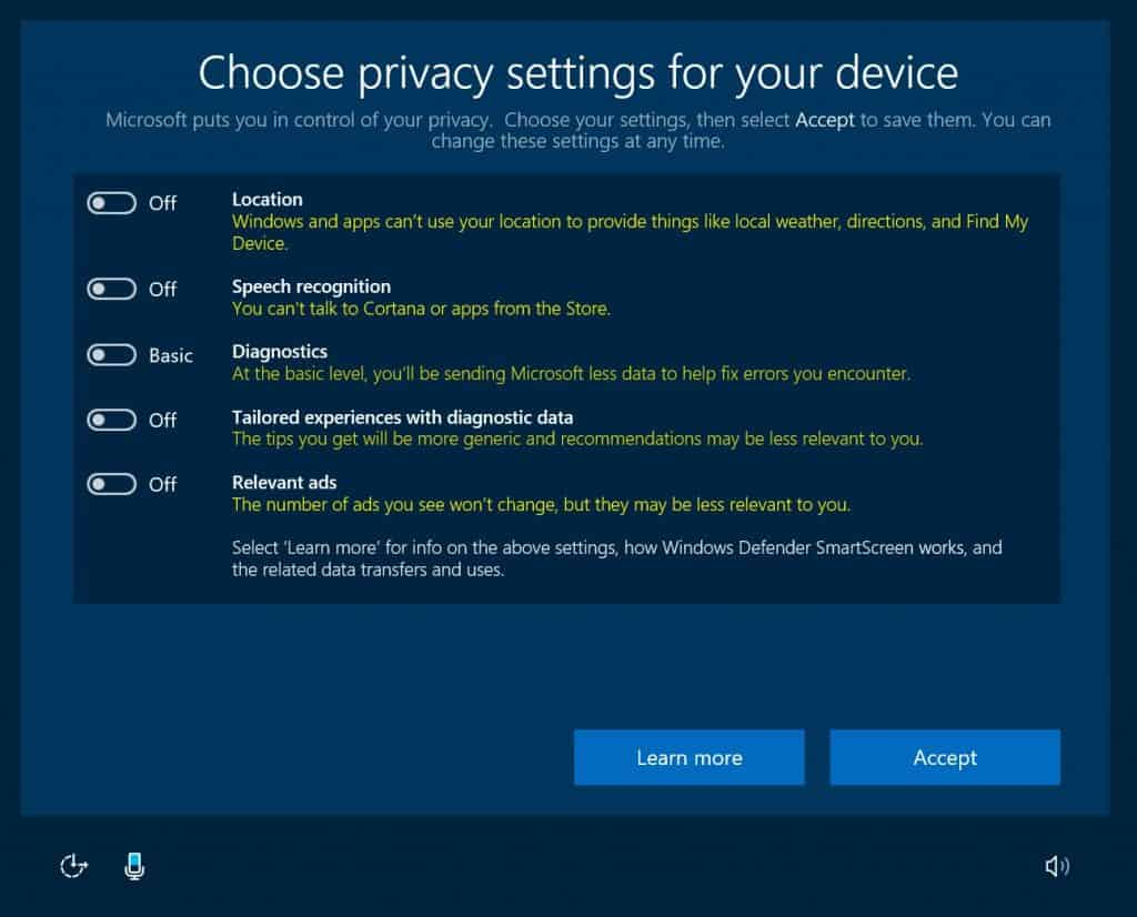 windows 10 creators update privacy 2