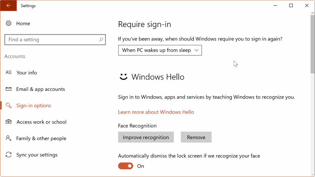 windows hello setup 3