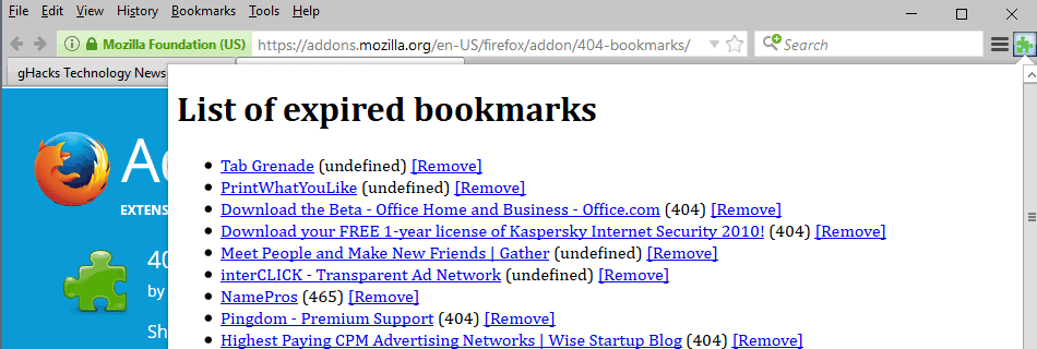 404 bookmarks