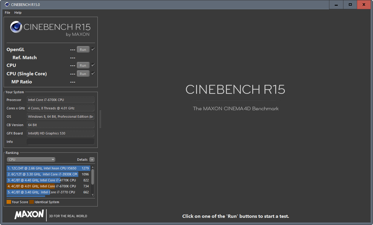 cinebench advanced benchmark