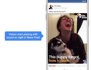 facebook videos auto play sound