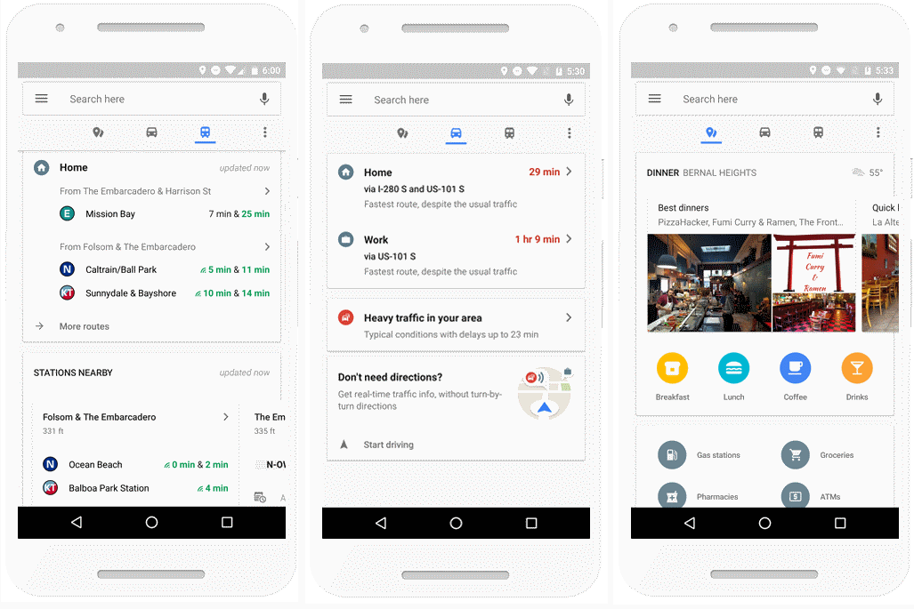 google maps commute