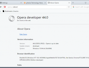 opera browser new design