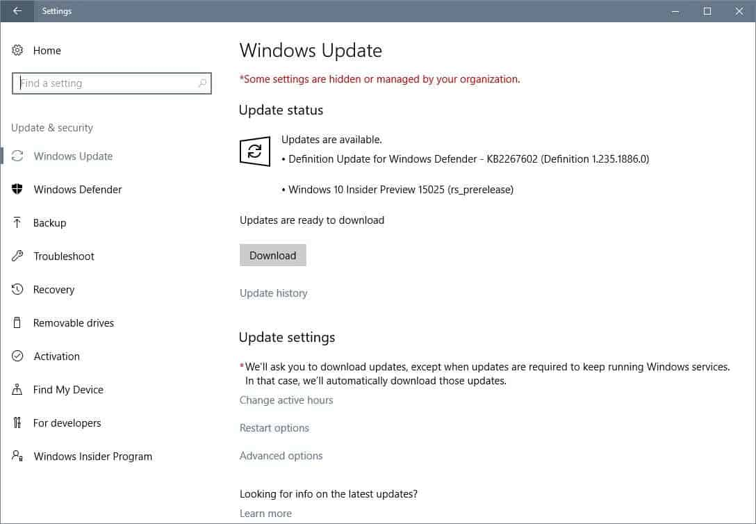Windows 10 Insider Build 15025 is all about bugs and fixes