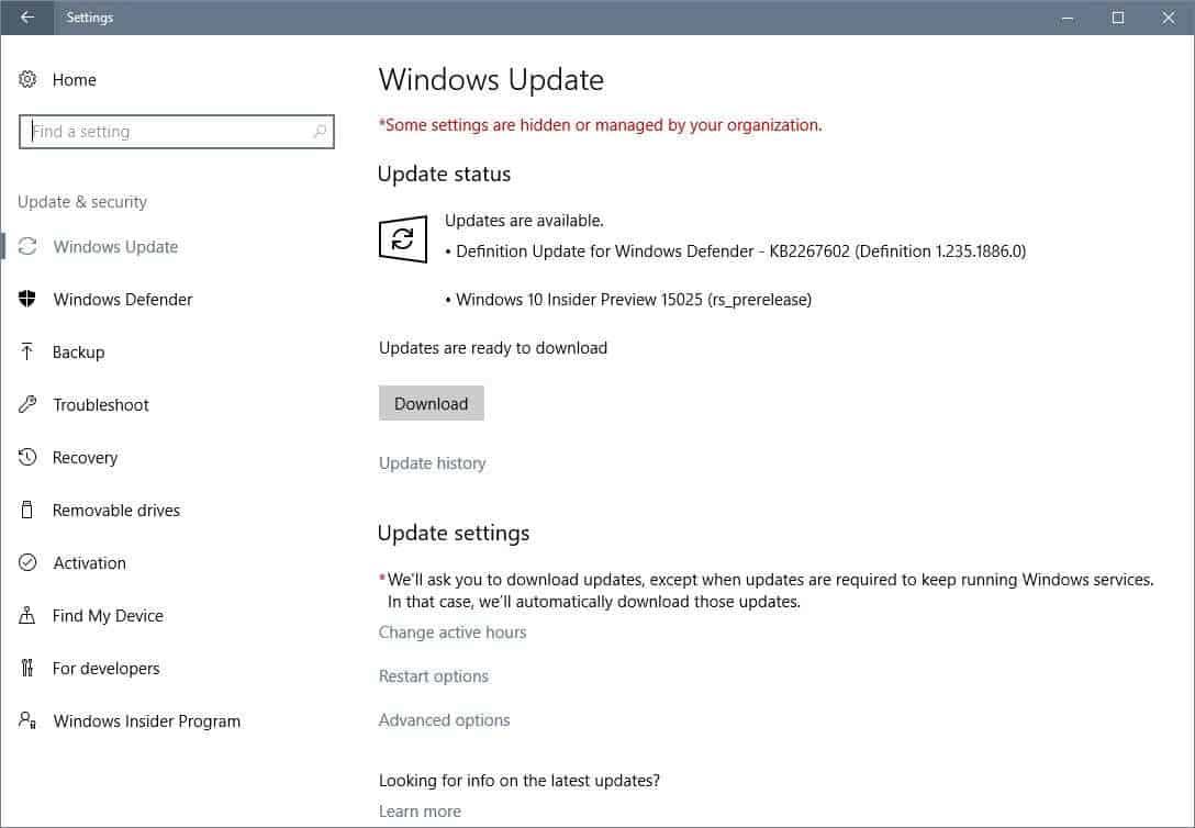 windows 10 15025