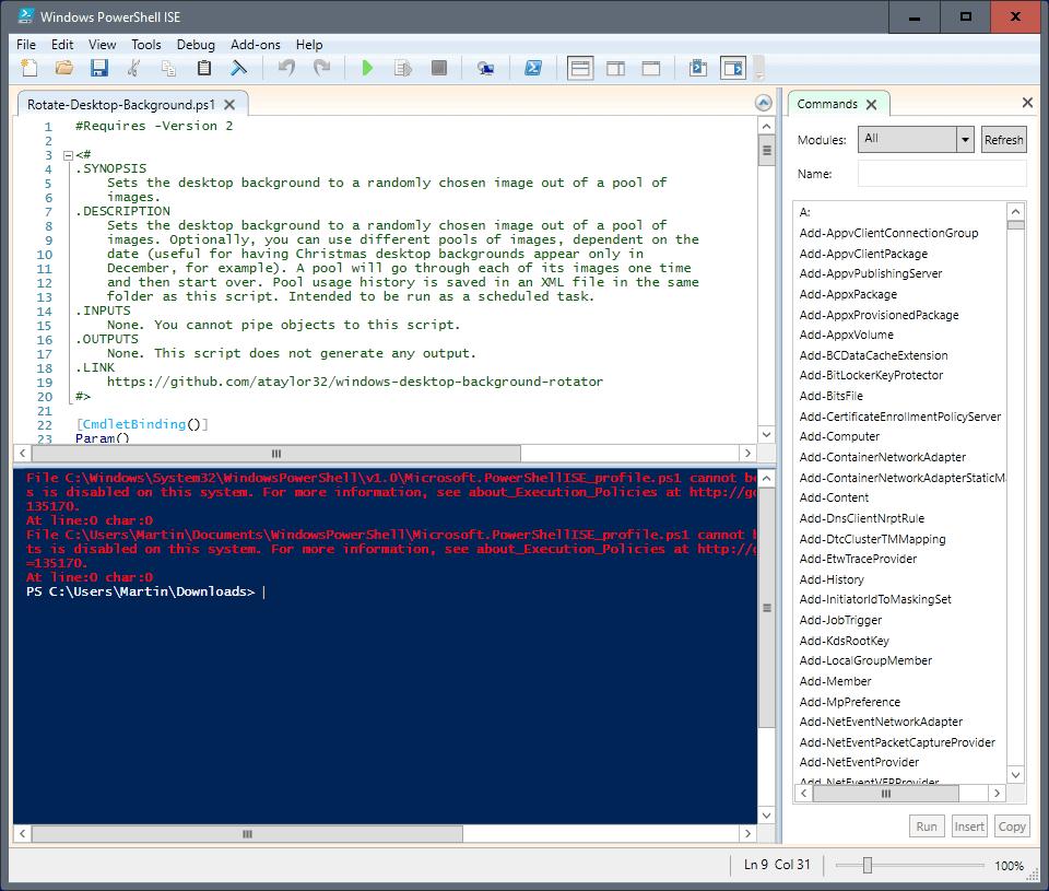 windows desktop background rotator