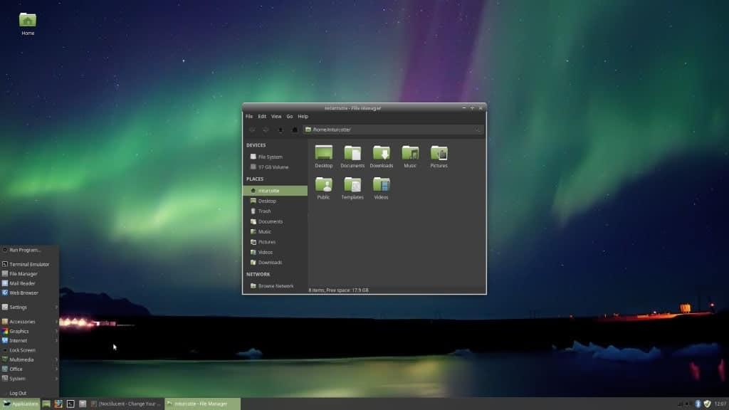 LinuxMint Themed Desktop XFCE