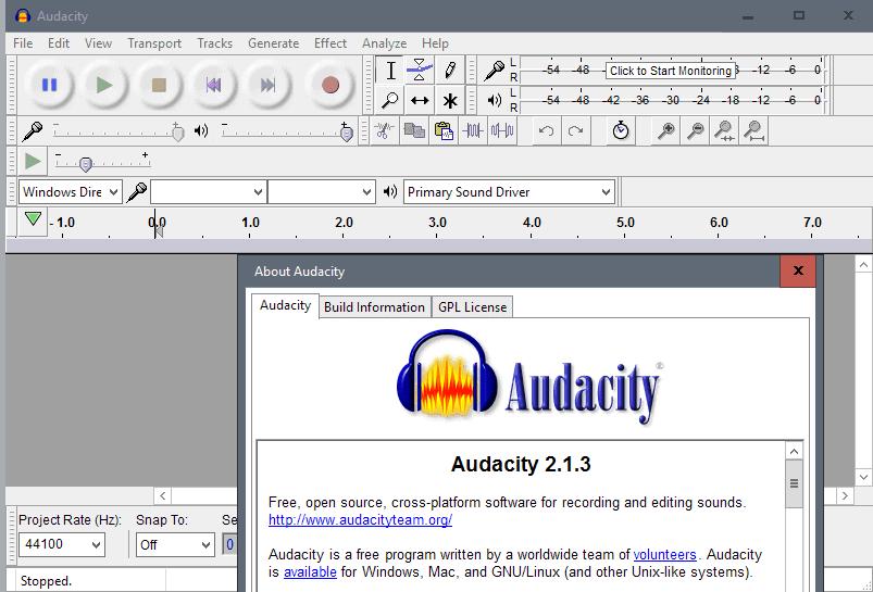 audacity 2.1.3