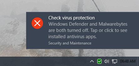 check virus protection