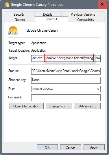 chrome throttle background tabs
