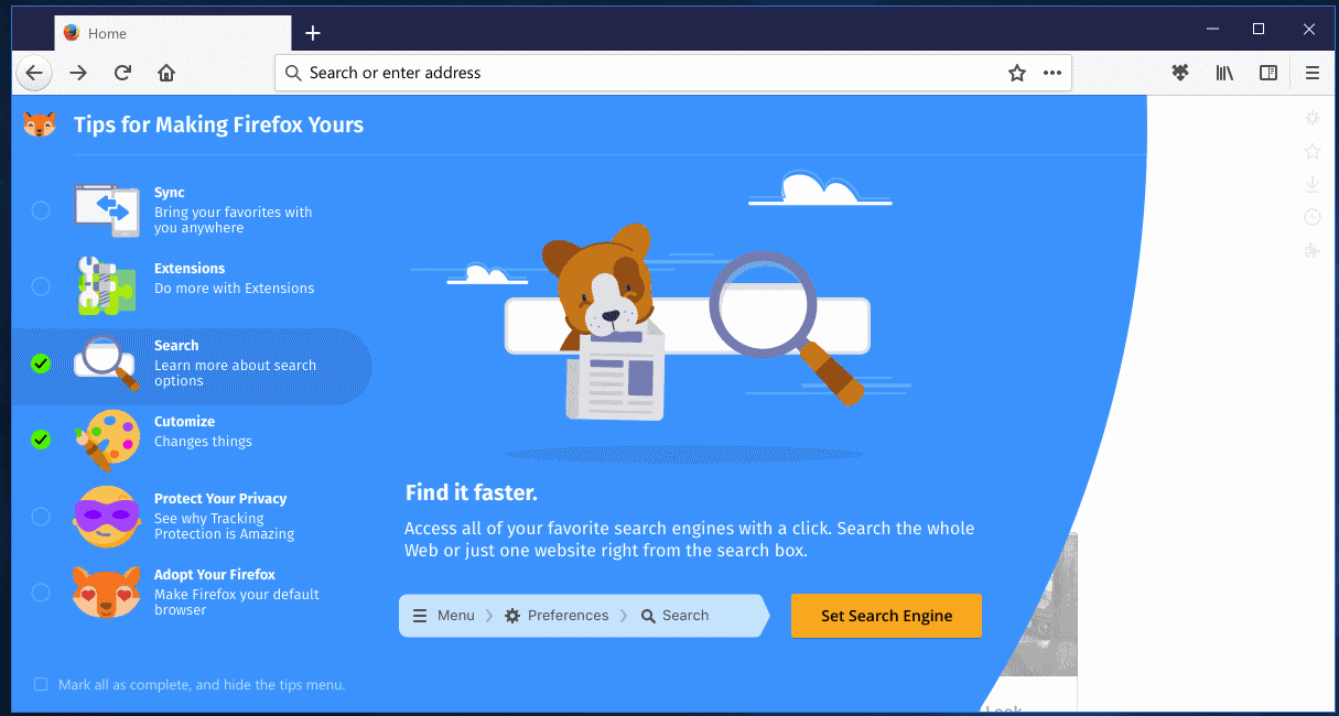 firefox photon tips 3