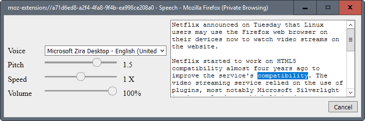 firefox text to speech