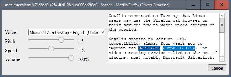 firefox text to speech