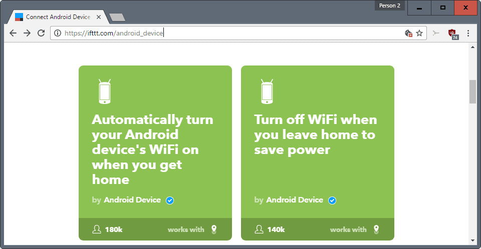 Top IFTTT recipes that improve your Android device