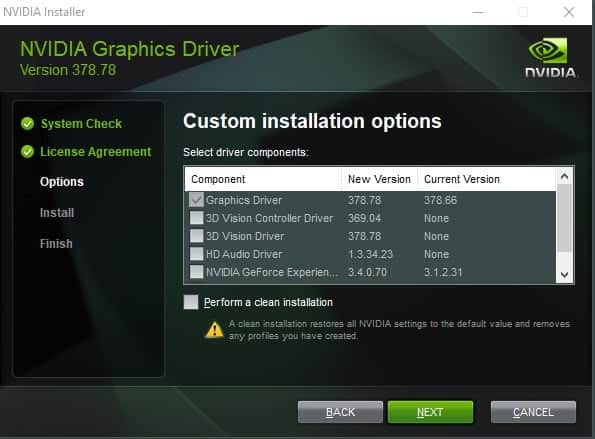 nvidia geforce driver 378-88