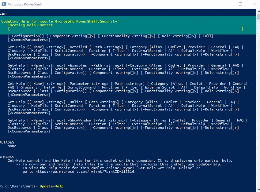 powershell update