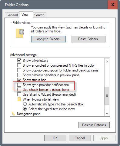 sync provider notifications