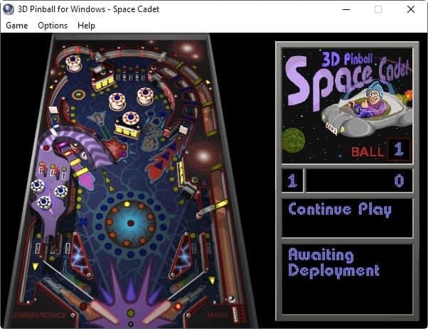 3d pinball for windows space cadet