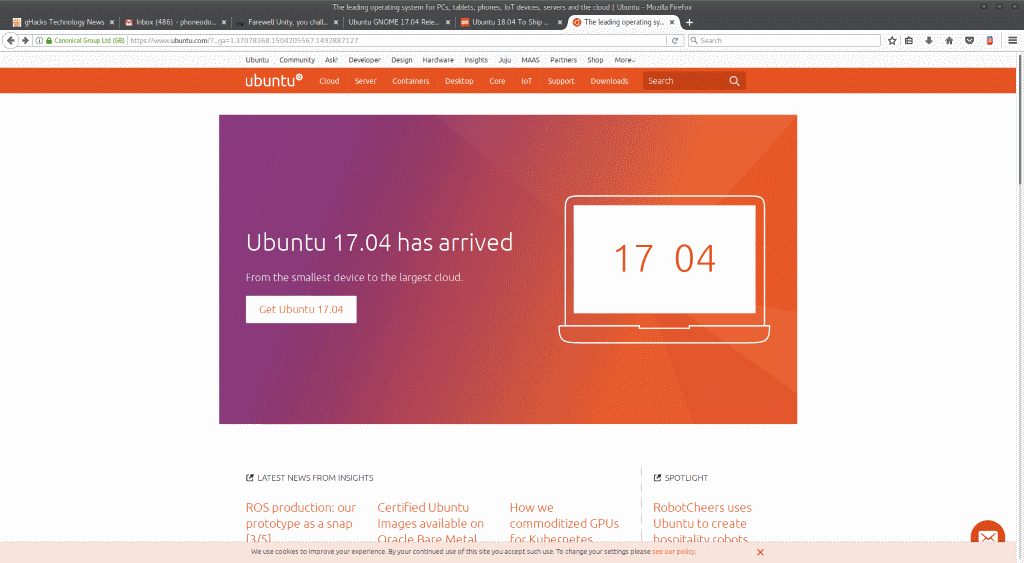 Ubuntu GNOME merged into mainline Ubuntu
