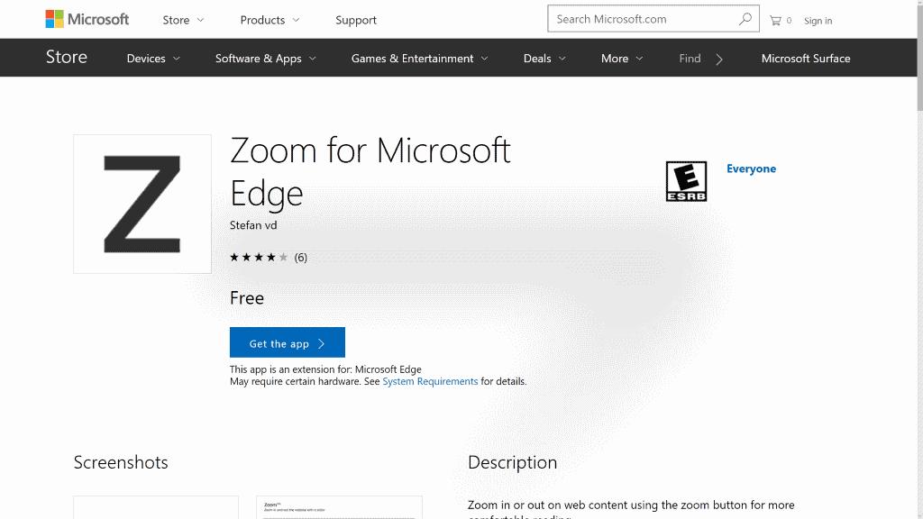 edge full screen