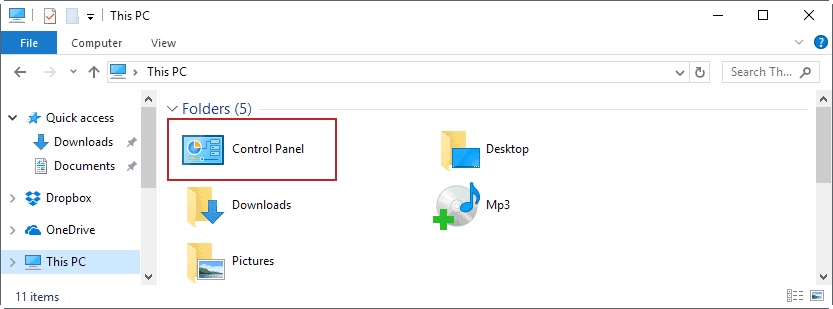 file-explorer-control-panel How to open the Control Panel in the Windows 10 Creators Update