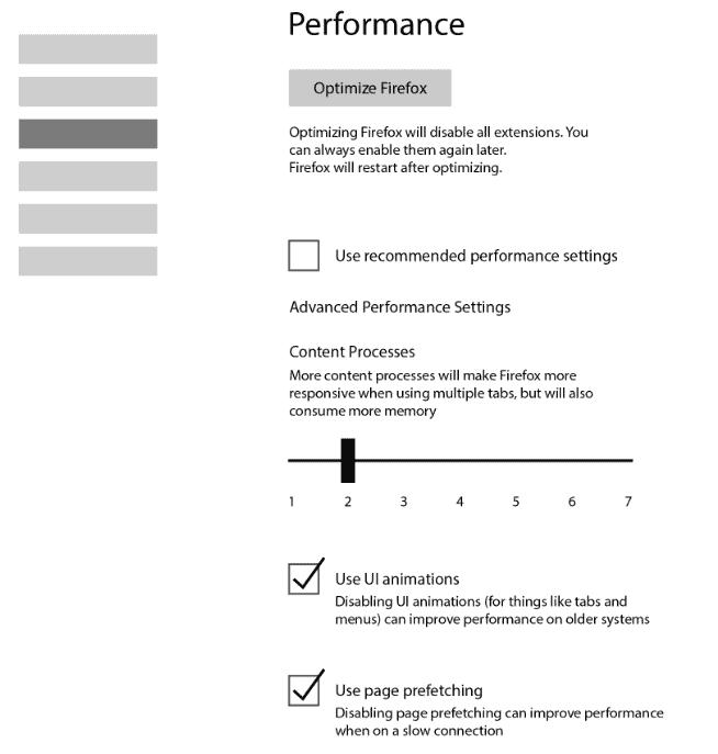 firefox performance settings