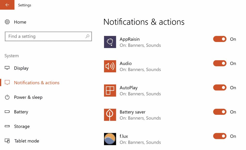 get notifications from senders
