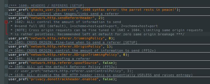 ghacks user js changes