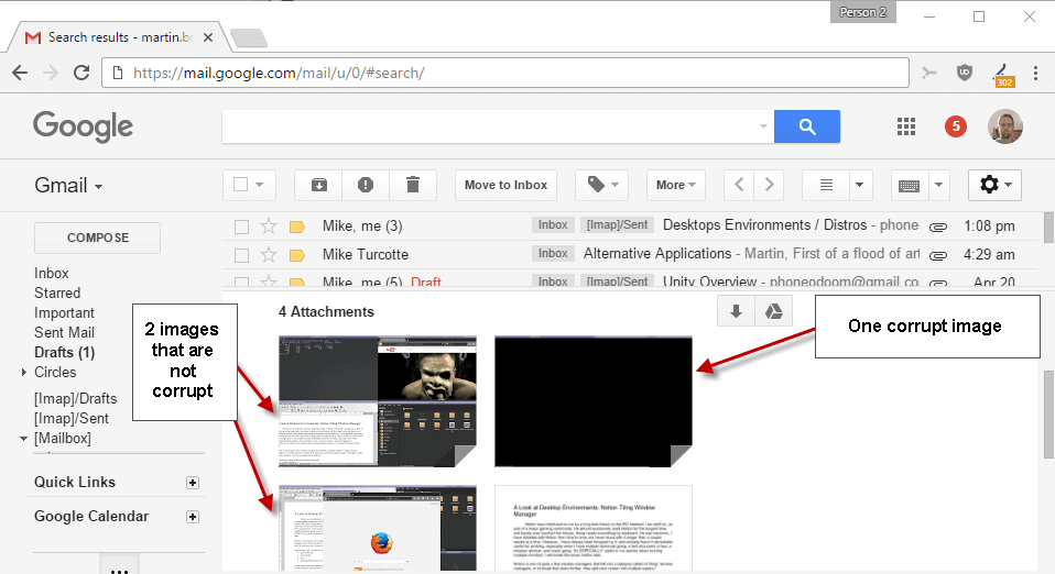 gmail check attachments