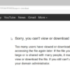 google drive sorry download