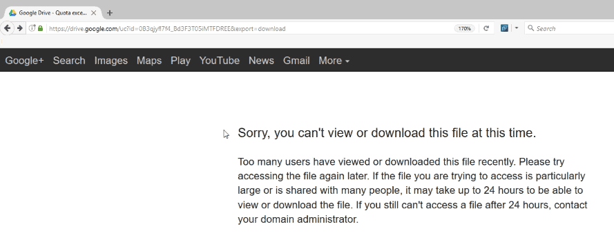 Fix Google Drive: Sorry, you can't view or download this