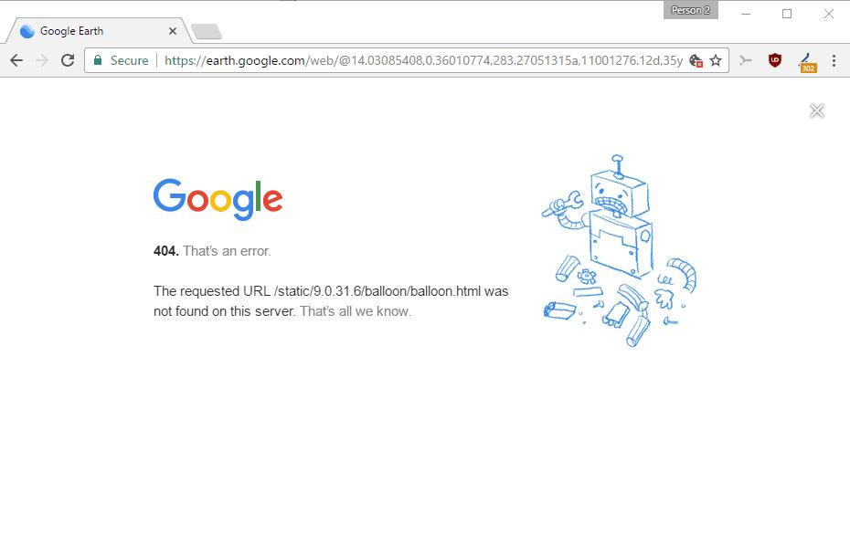 google earth error