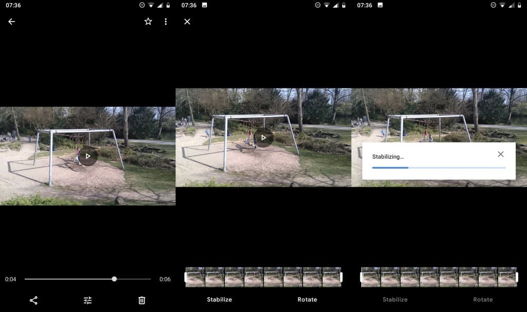 google photos stabilize